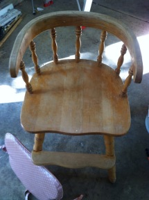 Old High Chair Make Over...