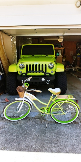 Couldn't resist! My bike matches my Jeep!